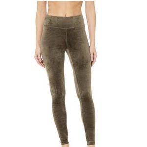 Danskin green velvet leggings